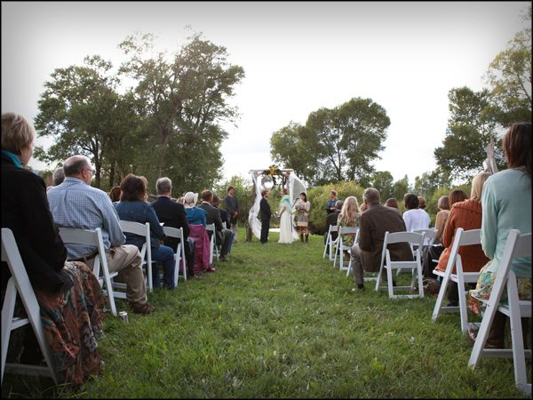 One of Rocky Mountain Labradoodle's guardian's wedding at Hutchinson Ranch Weddings & Events