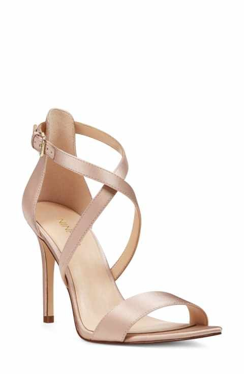 Nine West Mydebut Cross Strap Sandal (Women)   Wedding Shoes ... c6ce3b90f0