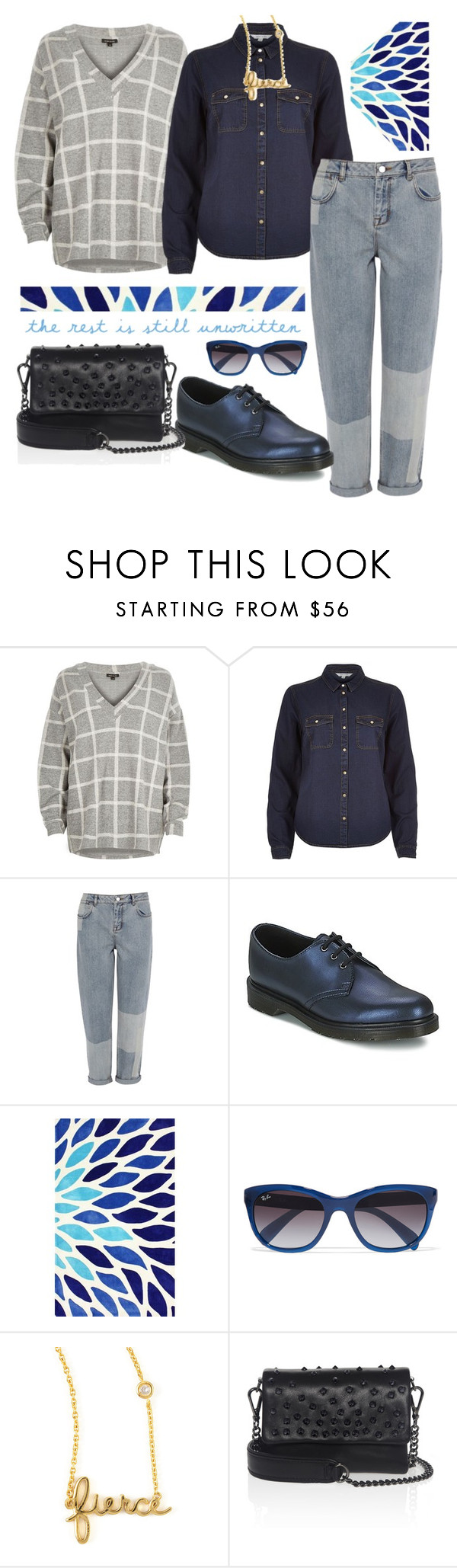 """《☆☆》"" by bluveraa ❤ liked on Polyvore featuring River Island, Karen Millen, Dr. Martens, nuLOOM, Ray-Ban, Sydney Evan, Kurt Geiger, women's clothing, women and female"