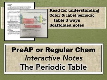 The periodic table interactive notes periodic table student the periodic table interactive notes urtaz Choice Image