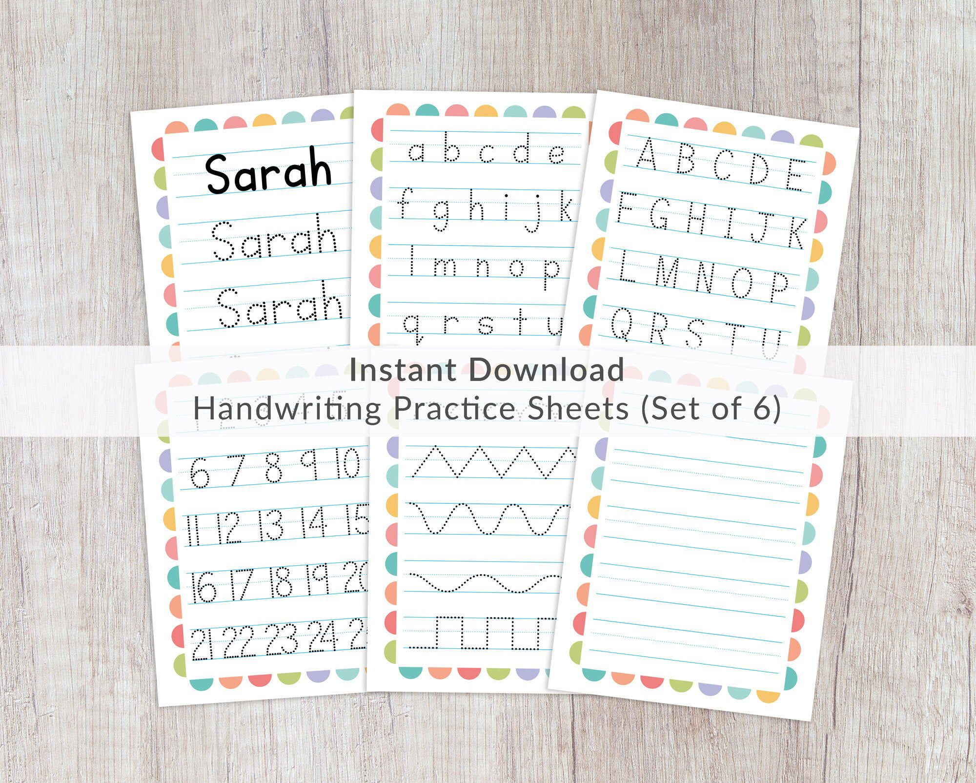 Name Tracing Worksheets Prints Printable Handwriting