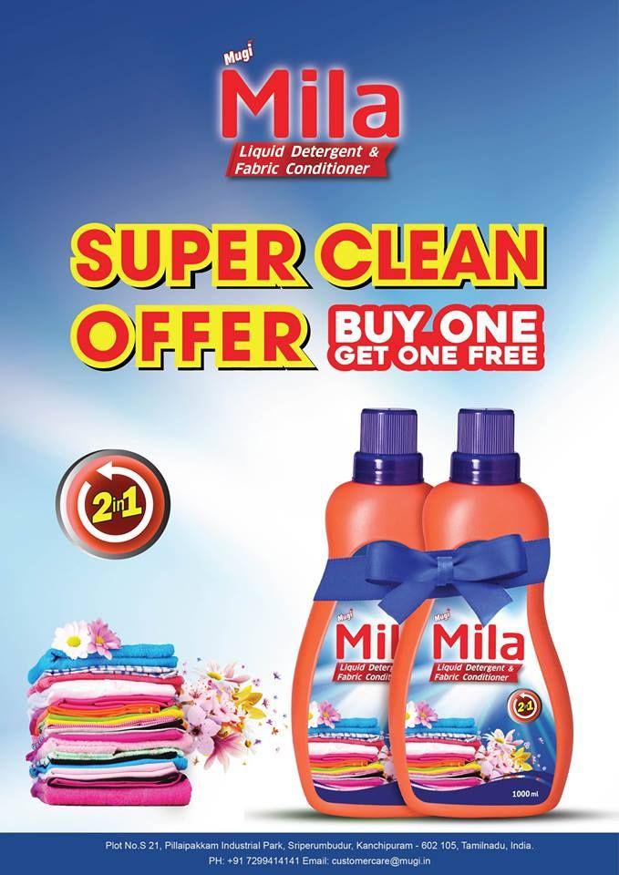 Mila Liquid Detergent Fabric Conditioner Mugi Mila Fabric