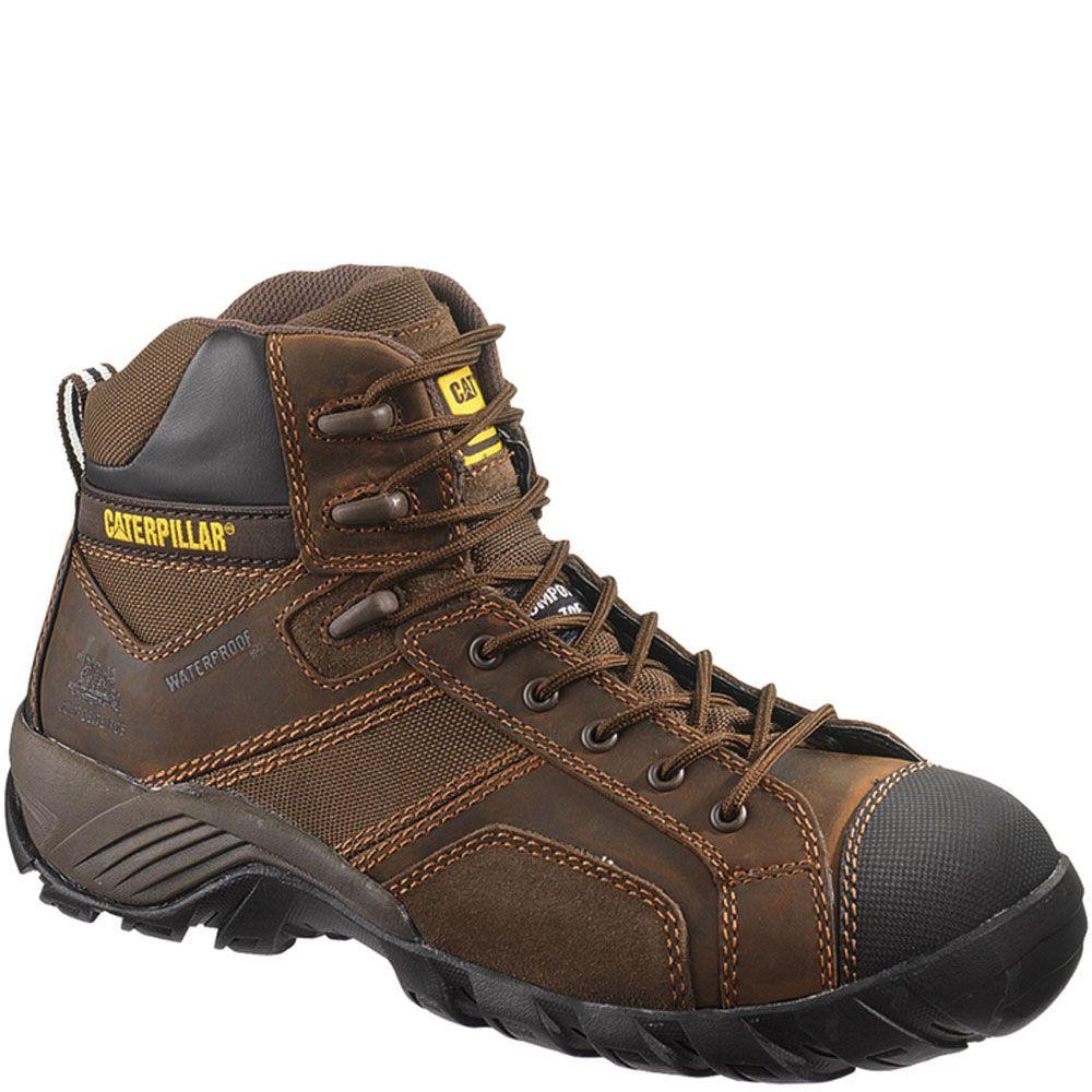 90091 Caterpillar Men's Argon HI WP CT Safety Boots - Dark Brown