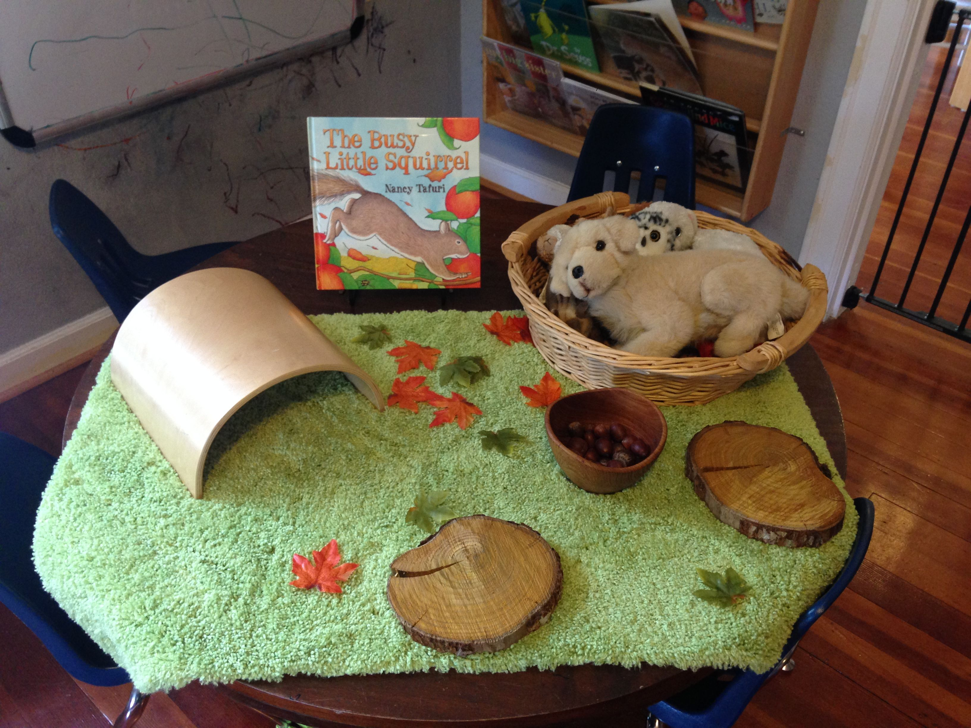 Squirrel Provocation And Story Retell Activity For The