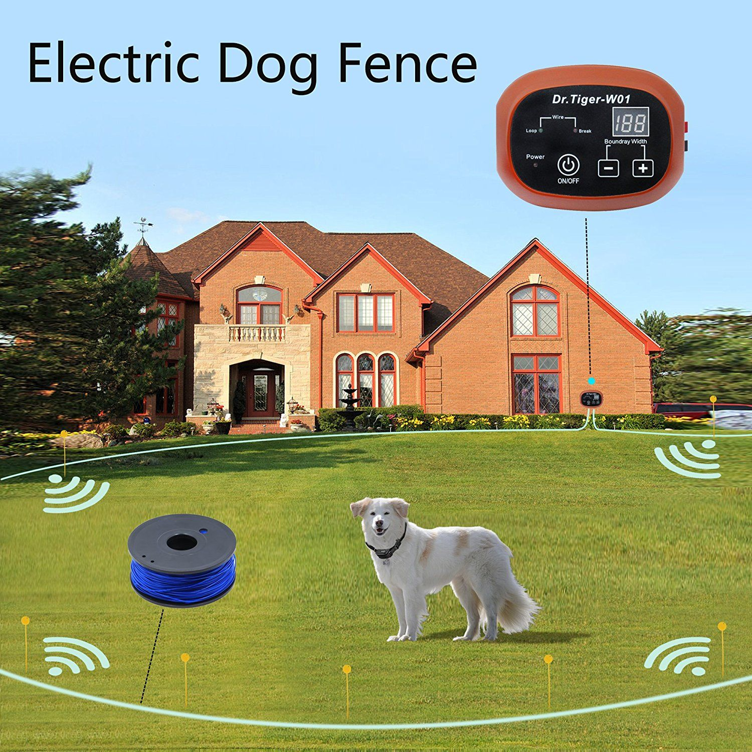 2 Dog Electric Fence System Inground DIY Containment with