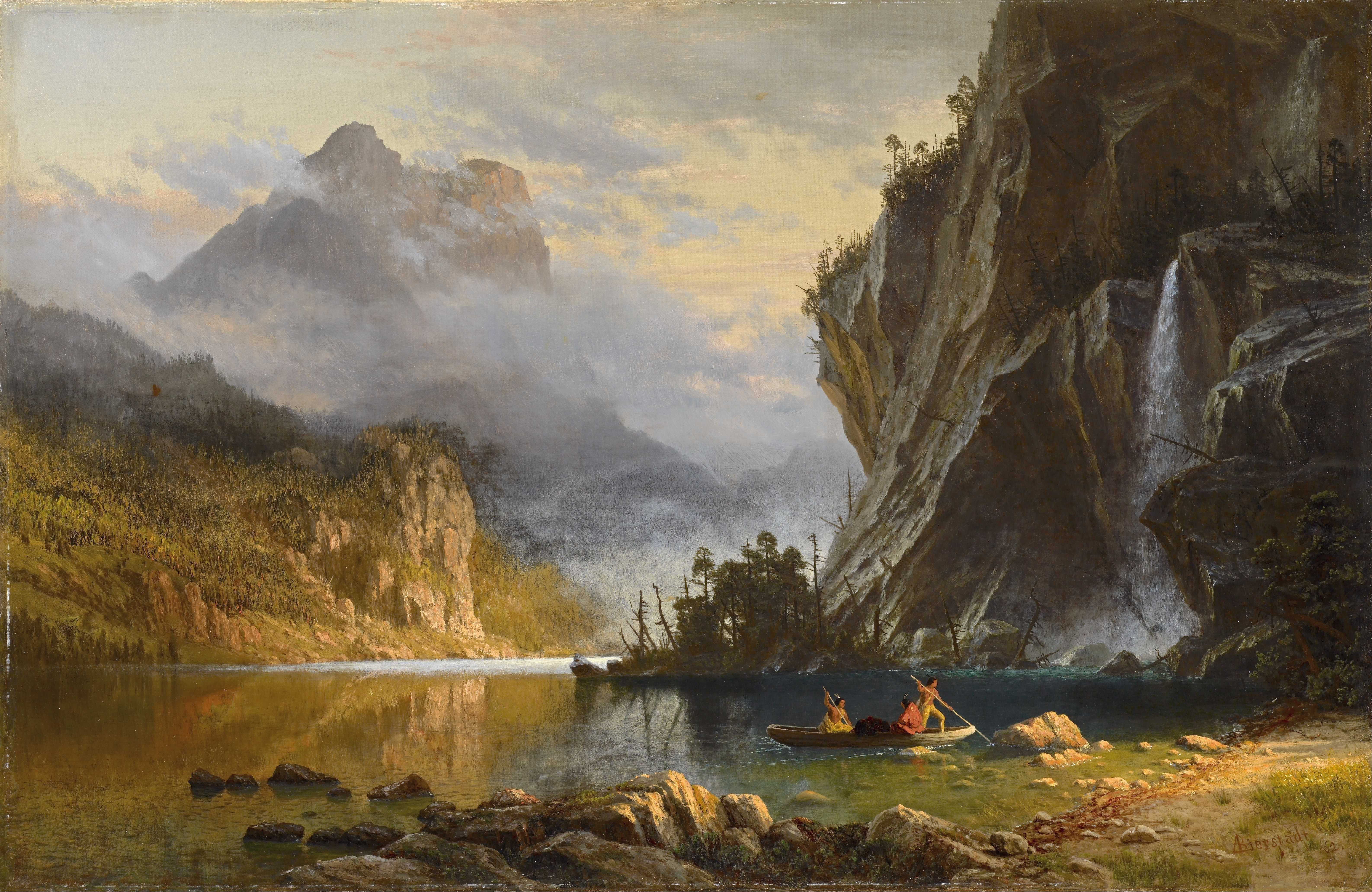 Albert bierstadt most famous paintings indians spear