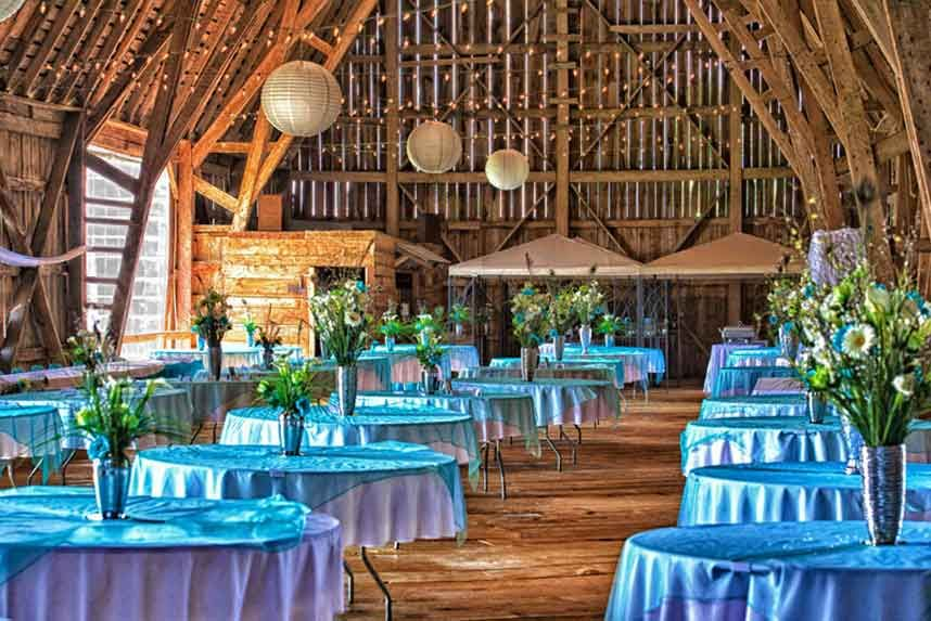 Reception Area | Michigan wedding venues, Barn wedding