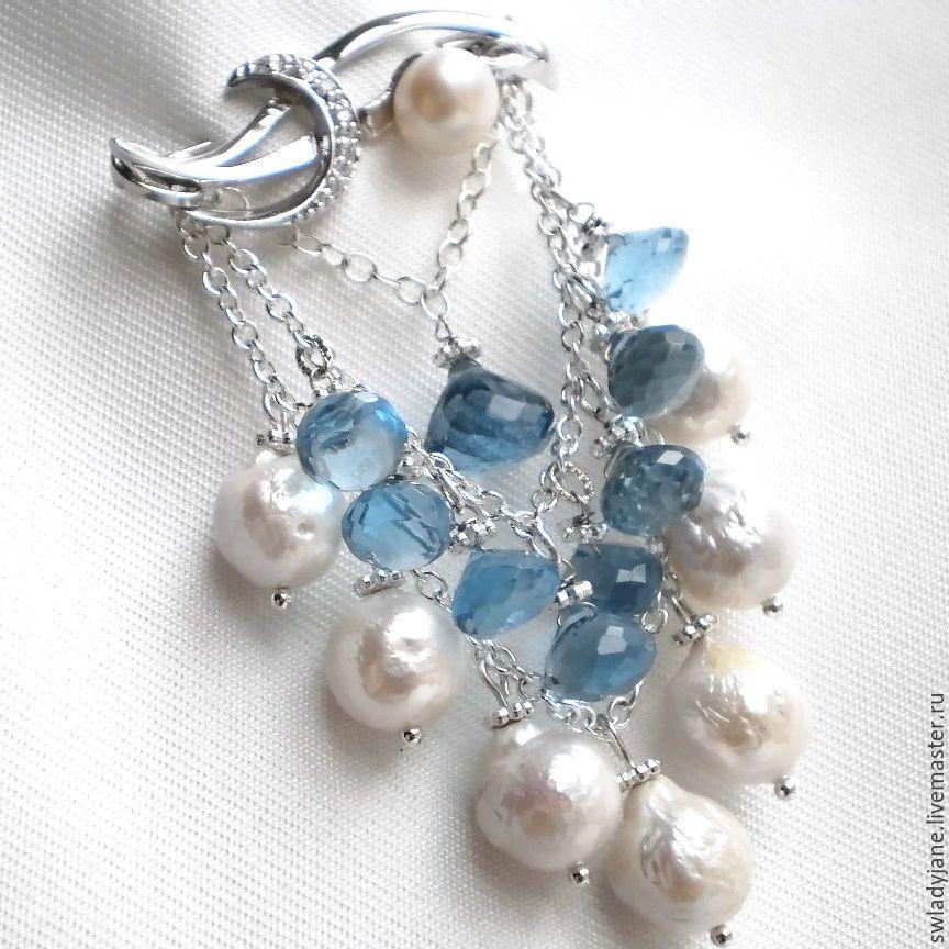 46fe83e5ac2f Купить LUX!!!KASUMI-like LADY BLUE EYES Серебряная брошь барочный ...