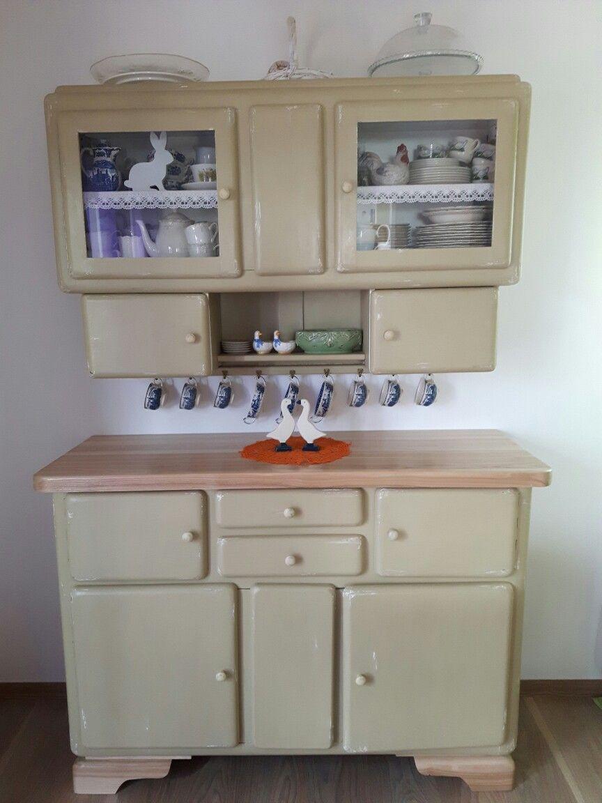 Moj Odnowiony Kredens Refurbished Furniture Old Cabinets Home Decor