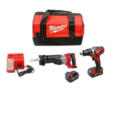 power tool sets 177000: milwaukee 2694-22cx m18 cordless 2-tool ...