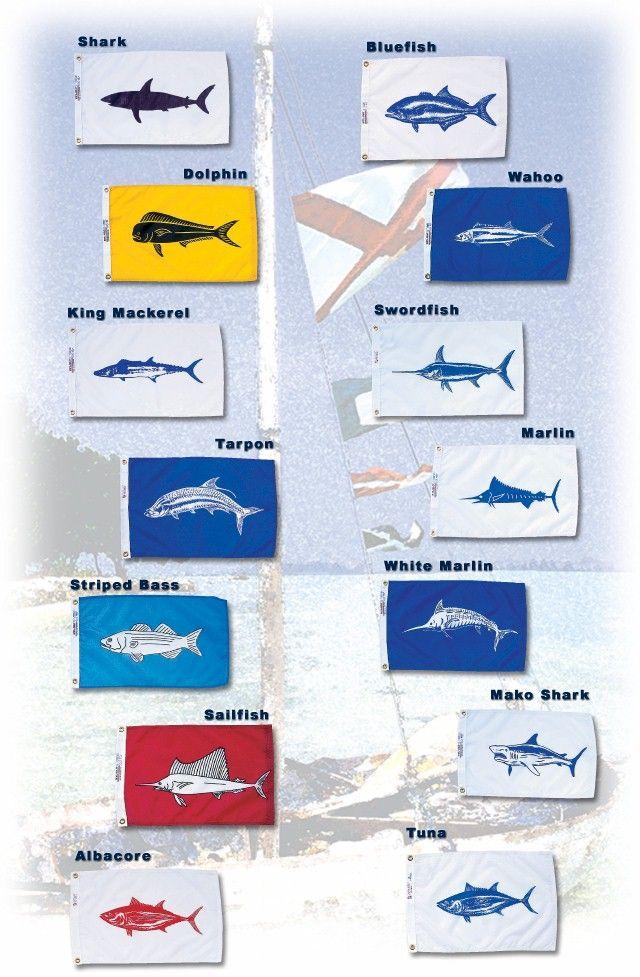 Annin Flagmakers Fish Flags With Images White Marlin King Mackerel Mako Shark