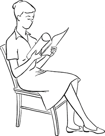 Drawing Reference Sitting Vi Female While Reading