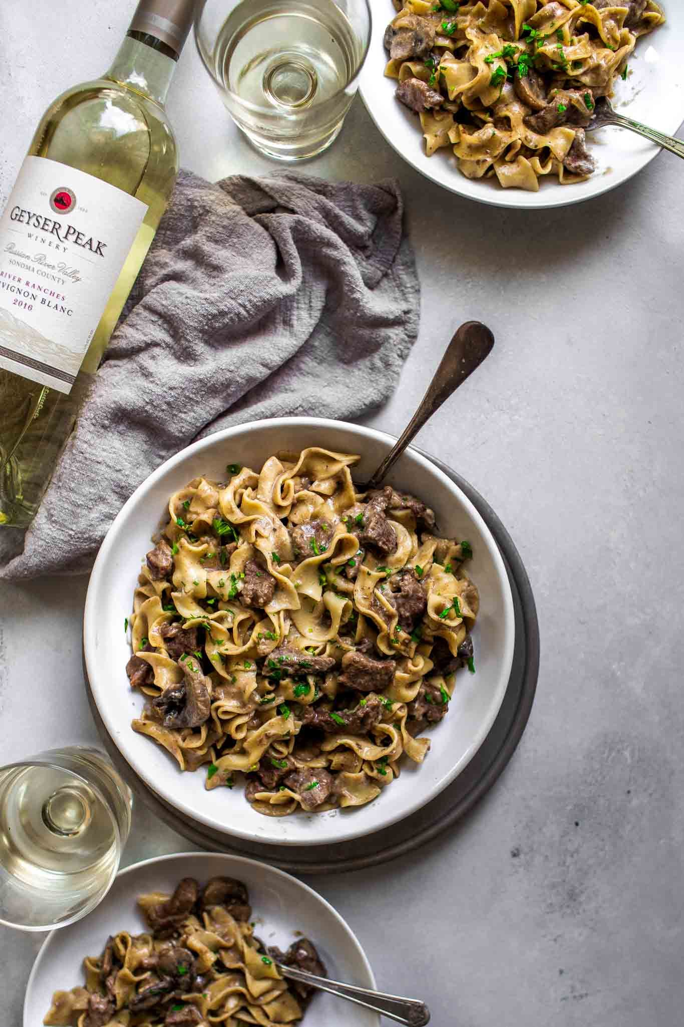 Wine Pairing With Instant Pot Beef Stroganoff Recipe Share