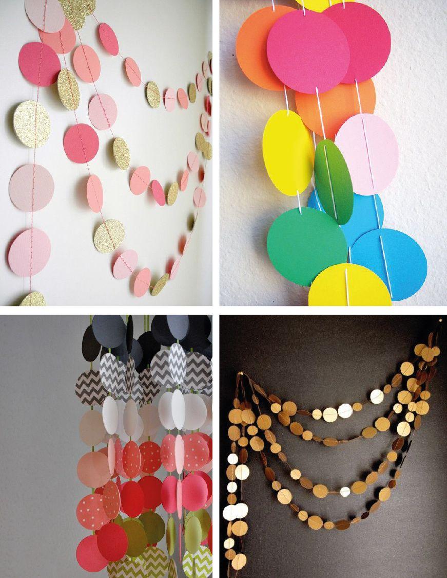 guirnaldas de colores con circulos