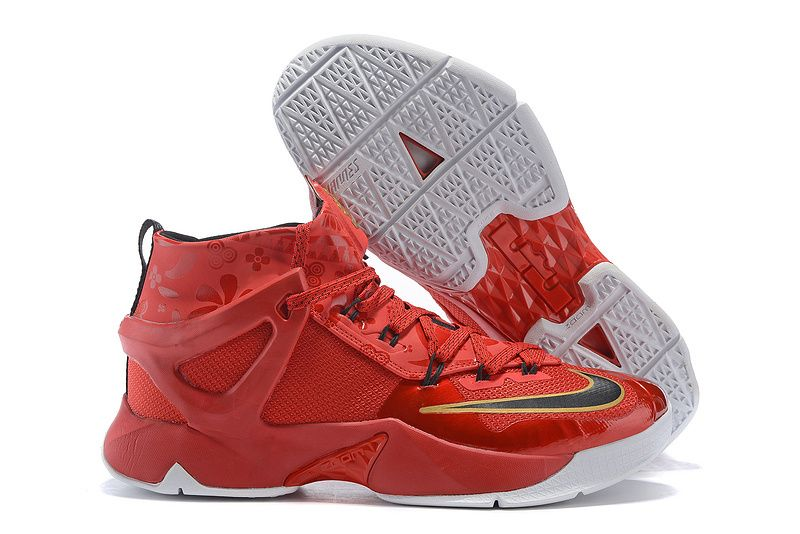 best sneakers c7d5c bfab9 Nike Basketball Shoes Nike Lebron 13 Gym Red Black Gold White 724559 419