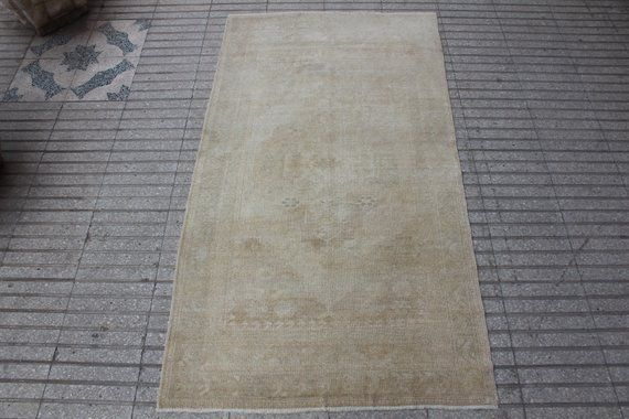 Vintage Turkish Oushak Area Rug Size 3 5x6 5 Feet In Soft Neutral Colors Authentic Handmade Carpet For Home Office Decor 774 House Stuff Rugs Area Rug