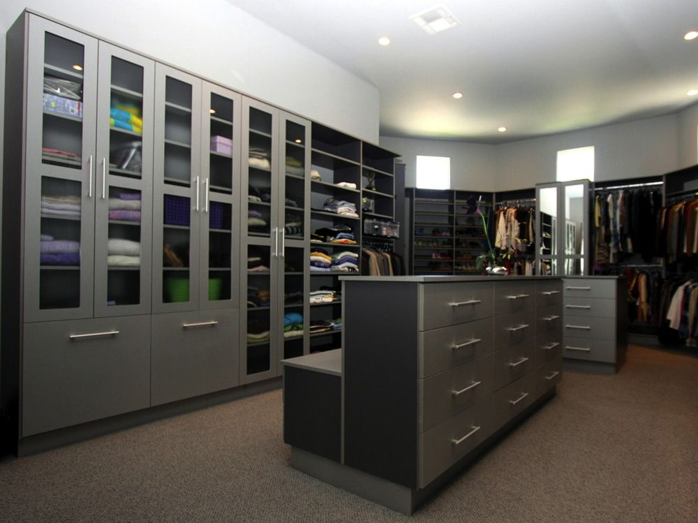 Great Modernize Your Closet With This Gray Walk In Closet By Classy Closets!  Schedule A