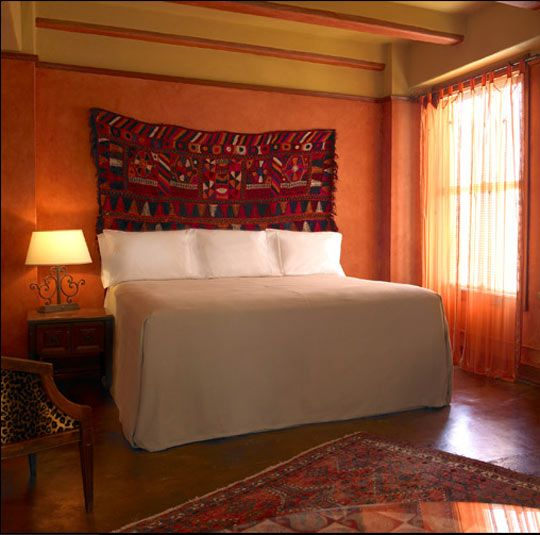 Inspiration Figueroa Hotel Cabin, Bedrooms and Walls