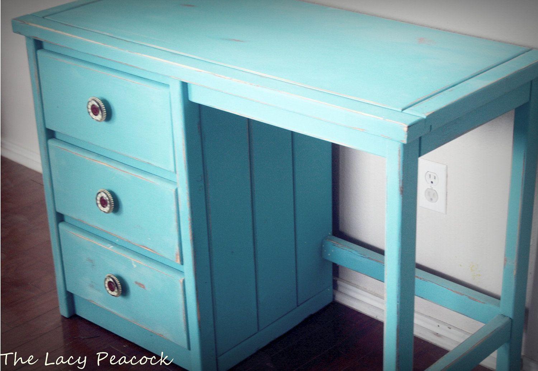 I Think This Will Help Me Do Homework Turquoise Desk Dream Furniture Vanity Desk