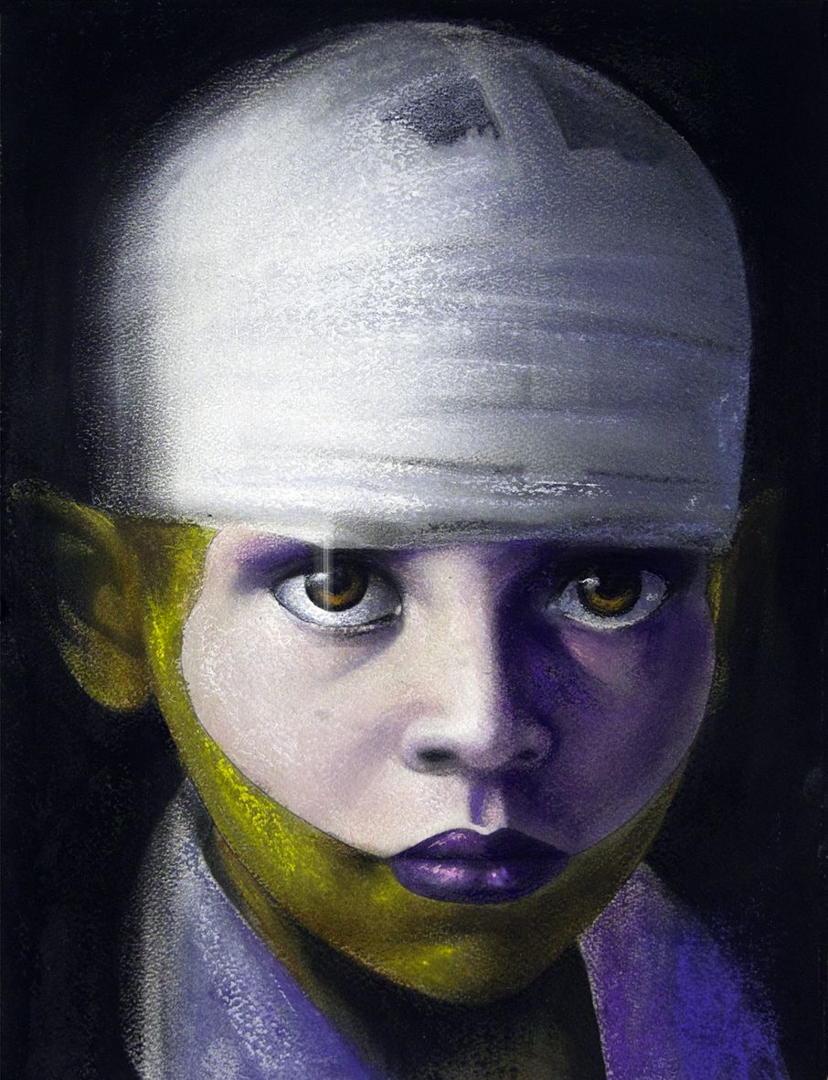 LES ENFANTS D'OR 8 #silviocadelo #ideomages #contemporaryart #dessin #pastel #paper #painting #art #hubertybreyne #gallery #drawing
