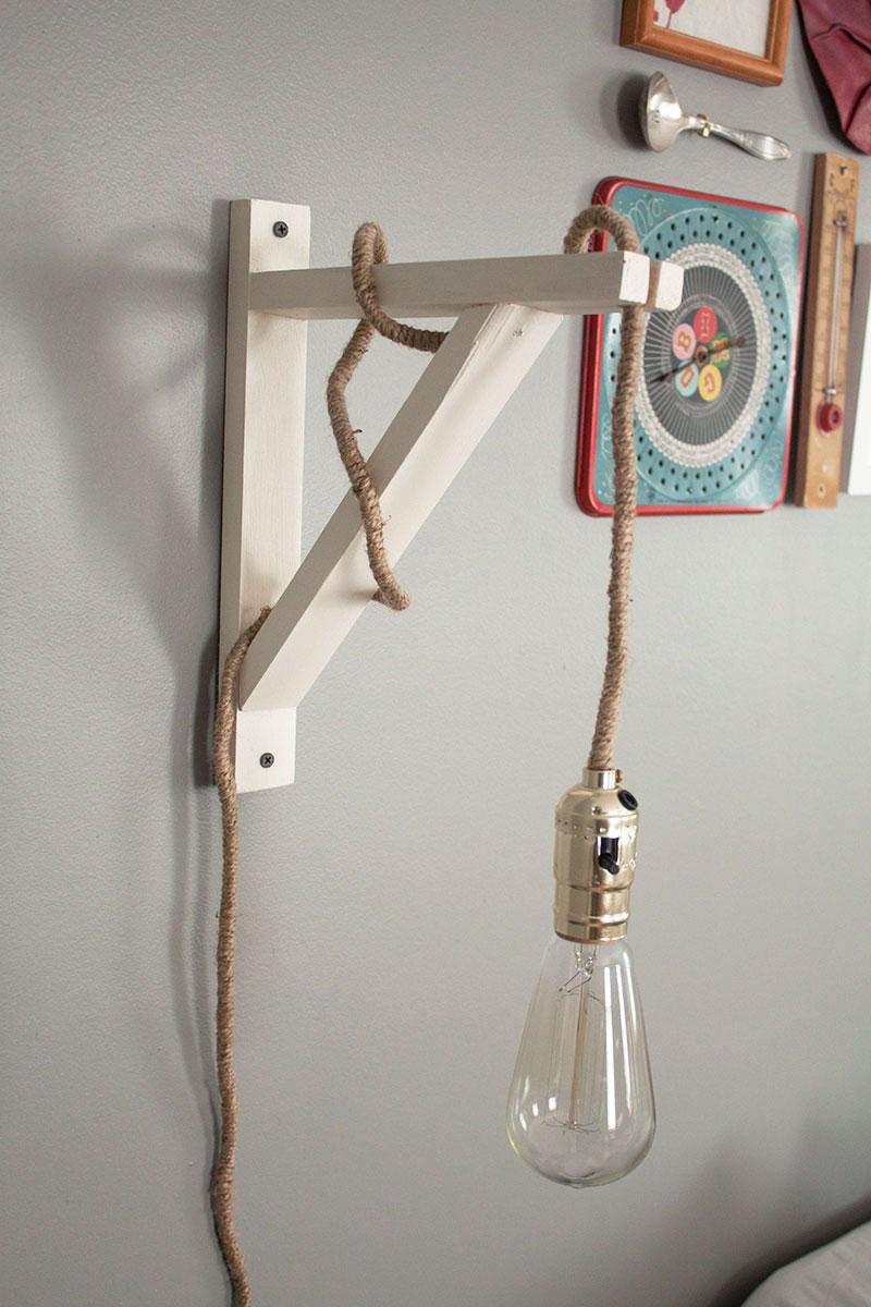 Faire Une Lampe De Chevet Soi Meme diy wall lamp (under $40!)   lampe de chevet, mur diy et