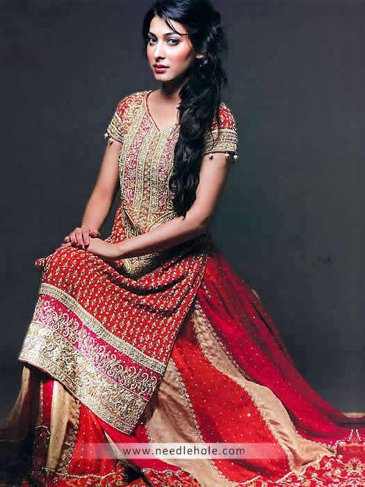 Pakistani Bridal Sharara Wedding By Nomi Ansari