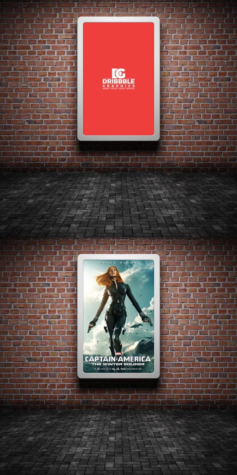 Free Street Advertising On Brick Wall Mockup Poster Mockup Poster Wall Poster Mockup Psd