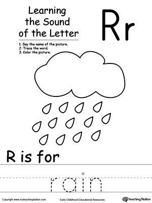 learning beginning letter sound r printable worksheets alphabet letters and worksheets. Black Bedroom Furniture Sets. Home Design Ideas