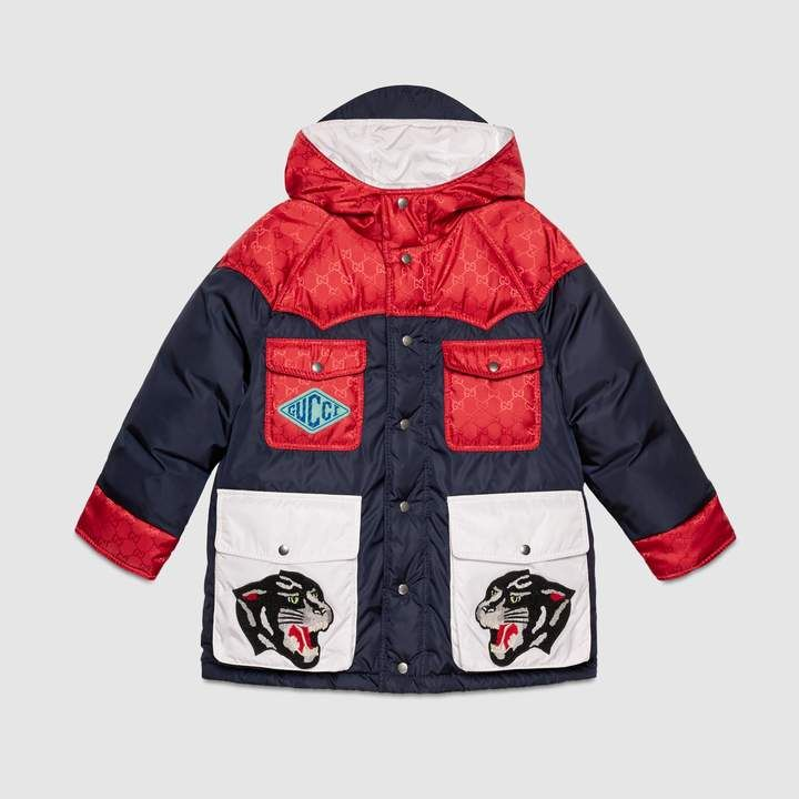 1d5b38c64e Gucci Children's nylon jacket with patches | Products | Jackets ...