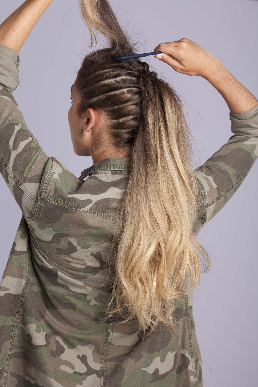 How to do a fauxhawk on long hair tutorial hair pinterest
