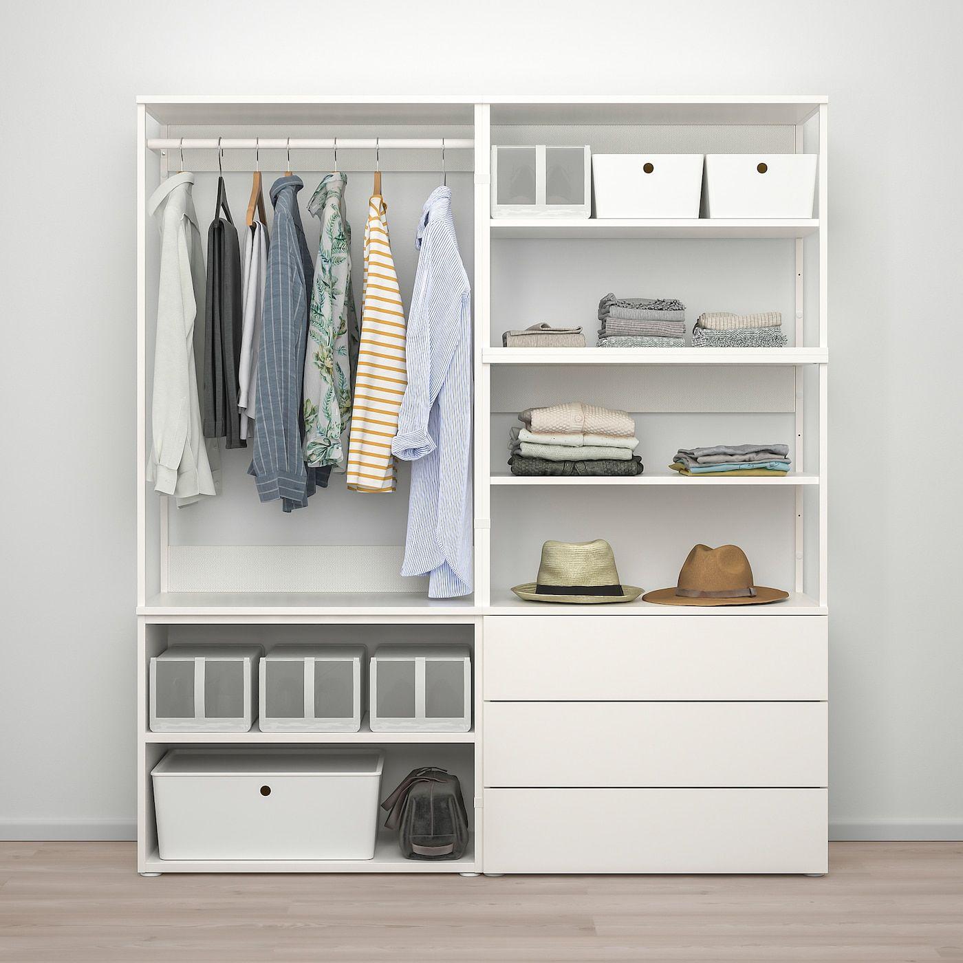 Ikea Schrank Weiß Drei Türen