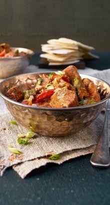 Curry d'agneau indien à la coriandre et au gingembre