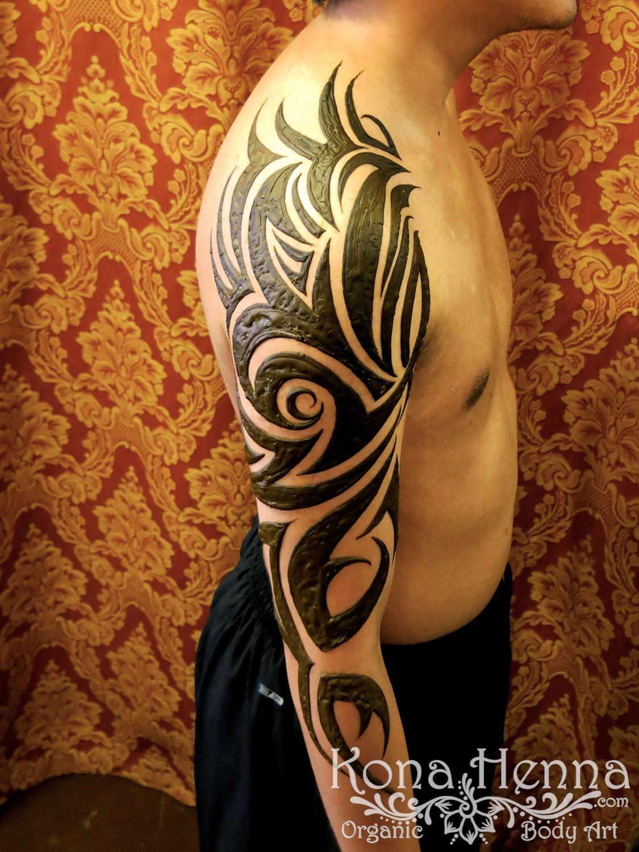 Kona Henna Studio Black Art Tribal Sleeve Kona Henna Arms