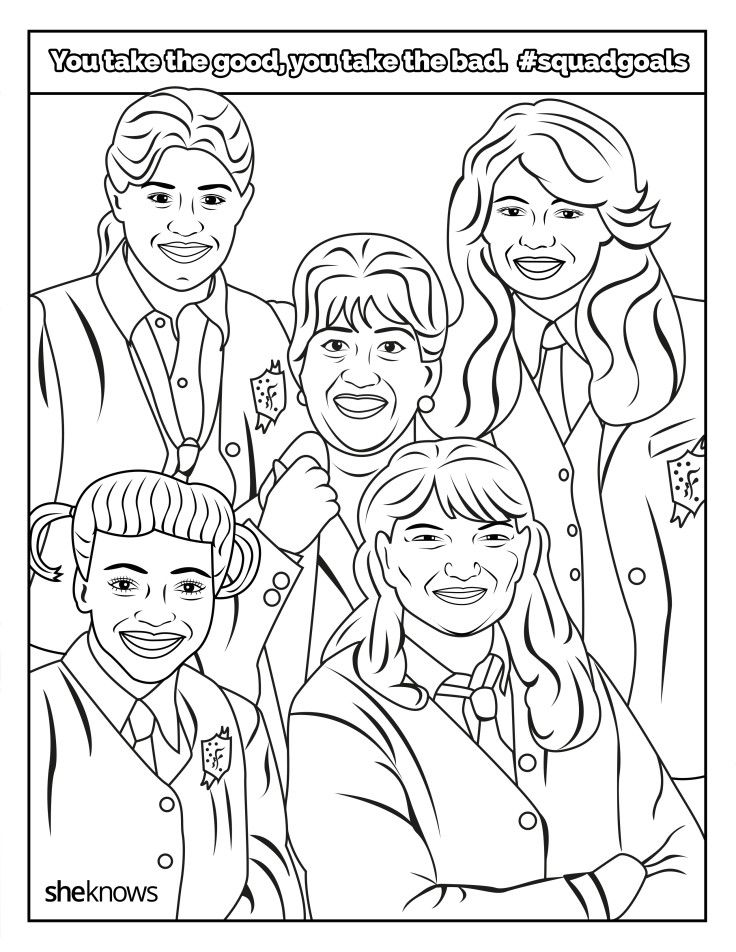 The facts of life coloring page free printable