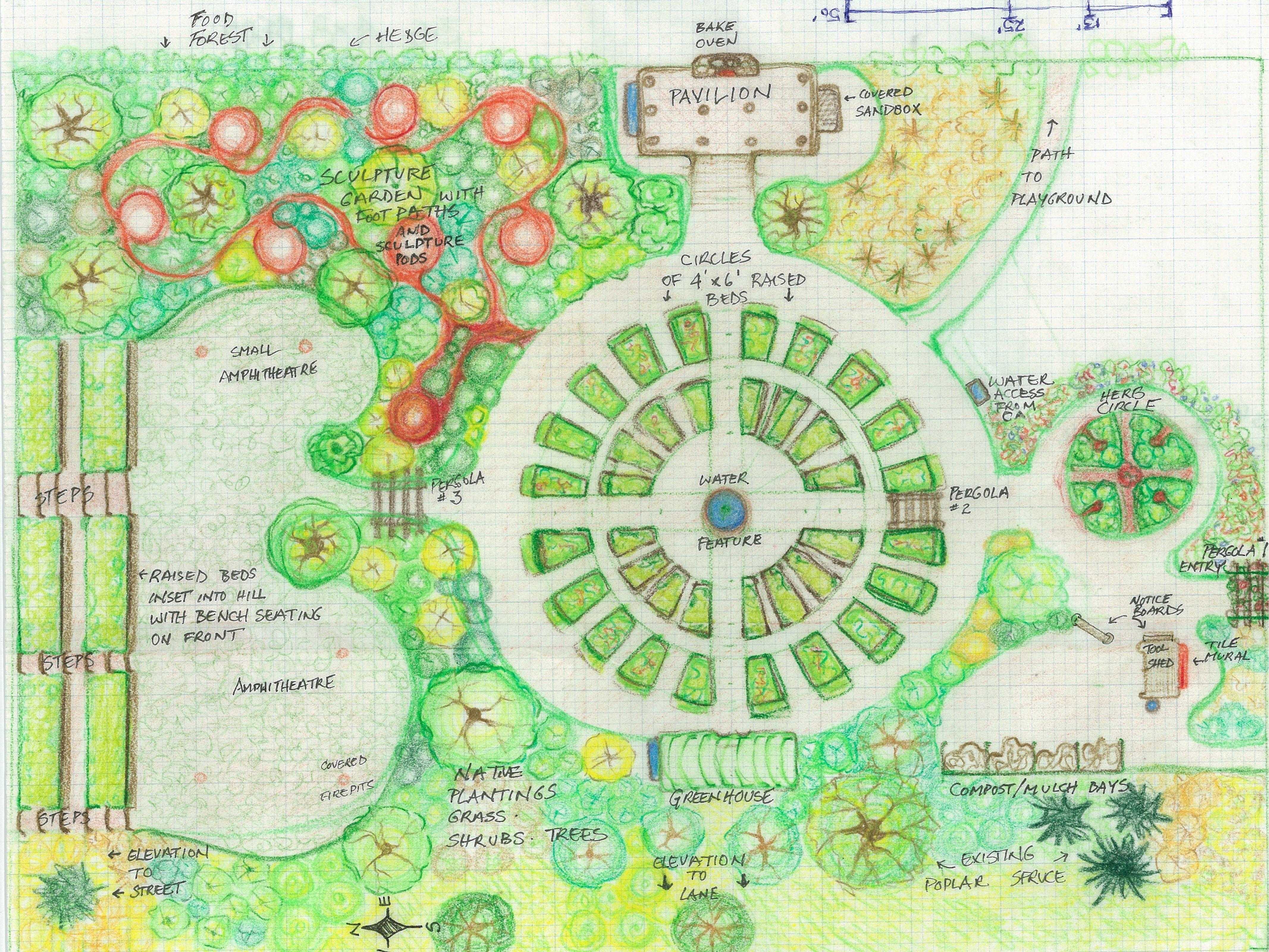 community gardens in open spaces - Google Search | детская площадка ...