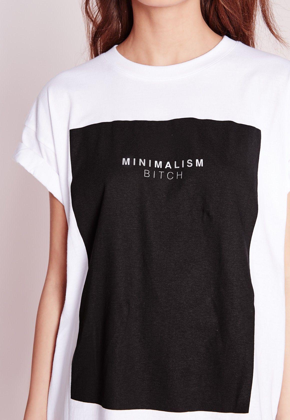 8ff1e69e73c055 Missguided - Minimalism Slogan T-Shirt