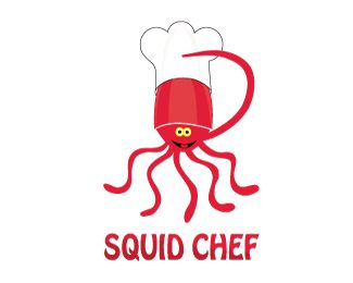 Squid Chef Is Great Brand Logo For Sale On Brandcrowd It Is