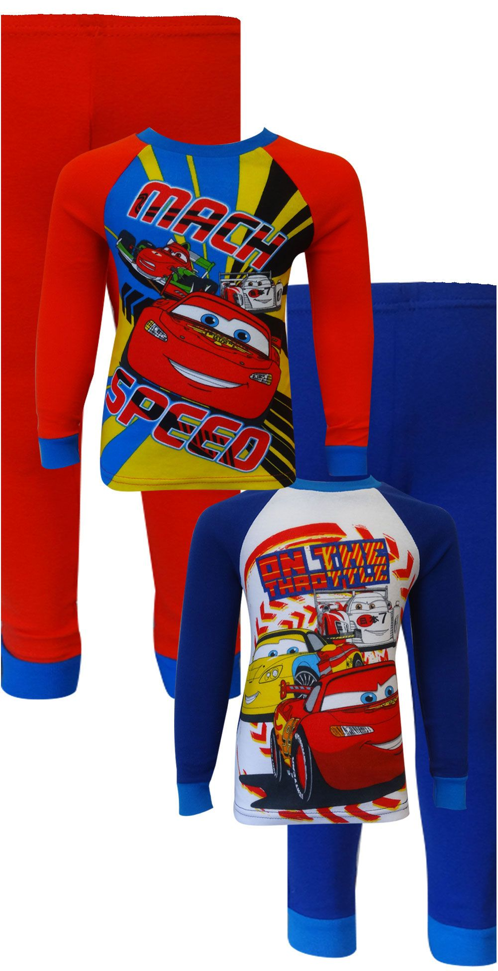 a81248a7f Disney Pixar Cars Team Lightning McQueen 4 Piece Pajama Set And they ...