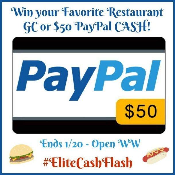 50 Favorite Restaurant Gift Card Or Paypal Cash Giveaway