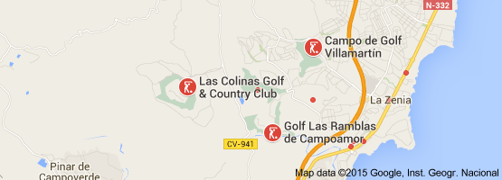 Map Of Orihuela Costa Golf Spain Spain Map