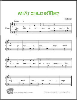 what child is this easy piano free