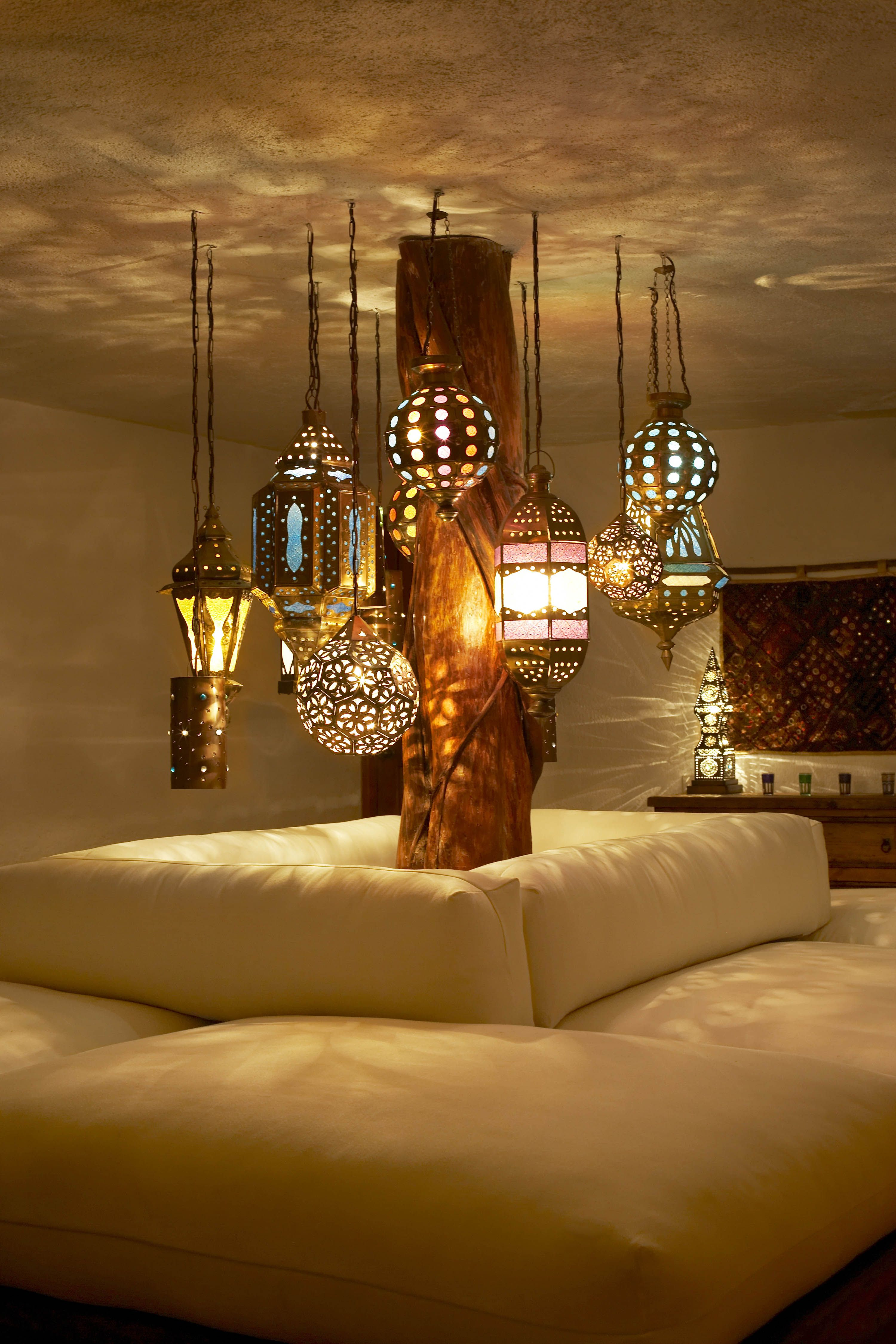 Patterned Lamps Add Touch Of Whimsy To The Lighting In The Spa At ... for Moroccan Lamp Photography  155fiz