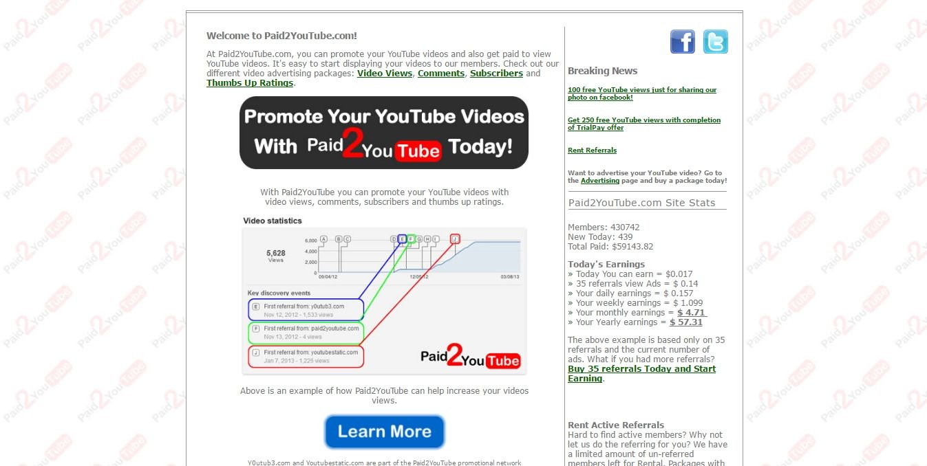 paid2youtube review scam or legit getting paid to watch youtube