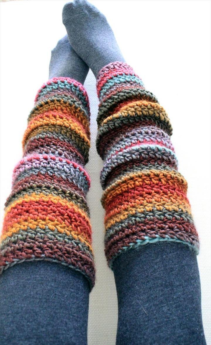 72 Adorable Crochet Winter Leg Warmer Ideas | Telar, Tejido y Zapatos