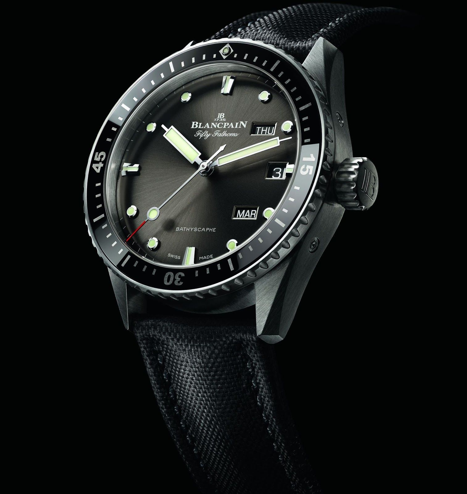 Blancpain Fifty Fathoms Bathyscaphe Quantieme Annuel Ref 5071 1110 B52a Fifty Fathoms Dive Watches Blancpain