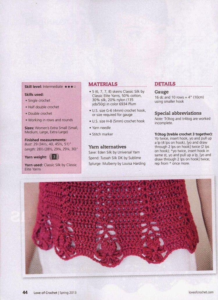 Top Jersey Detalles Crochet y Tricot - Patrones Crochet | Jackets ...