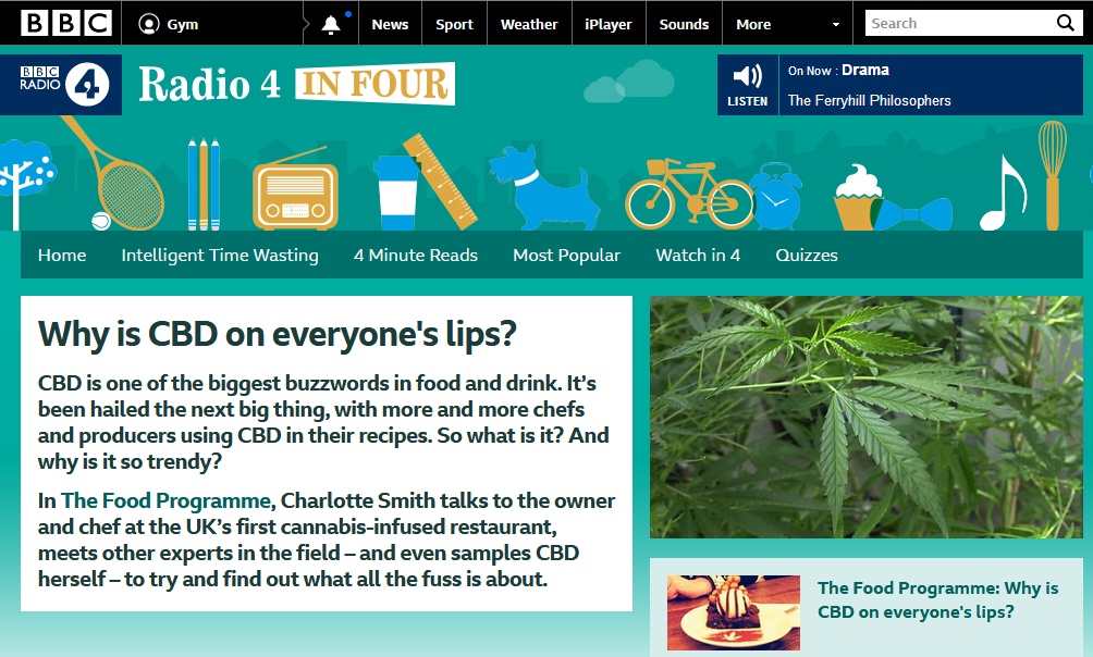 Radio 4 in Four Why is CBD on everyone's lips? Health