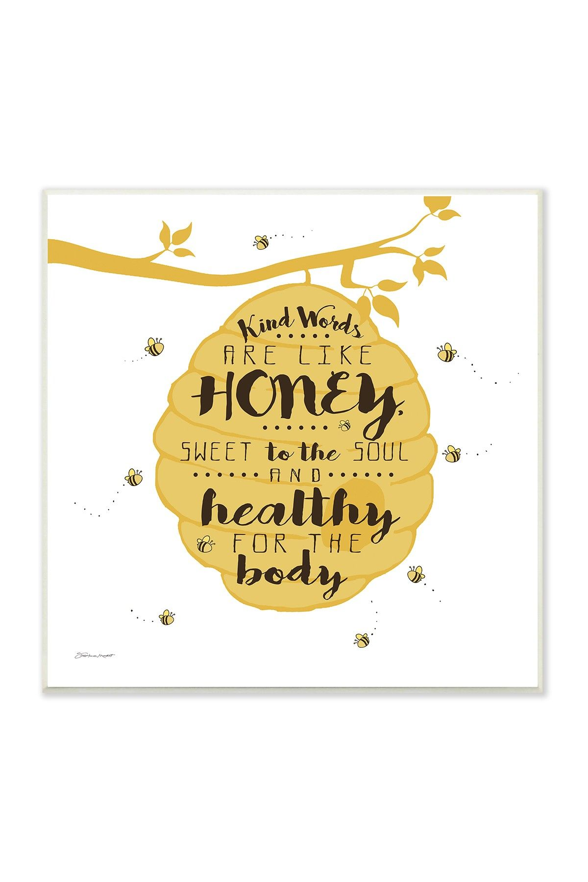 Kind Words Are Like Honey Wall Art - 12x12 | Products