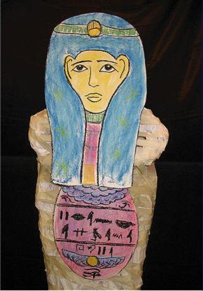 Creating a mummy.