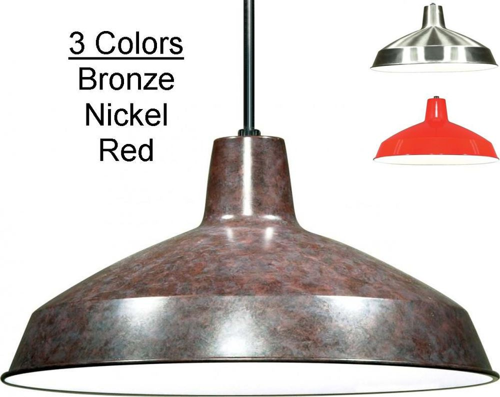 metal pendant light warehouse industrial vintage retro hanging lamp shade colors - Metal Lamp Shades